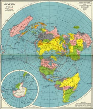 core map rand mcnally polar map of the world in