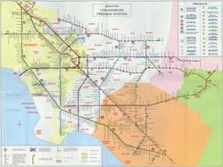 Historic maps in k 12 classrooms map 18 expressways and the greater los angeles freeway system publicscrutiny Images